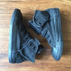 Converse no tie high tops-all black size 7